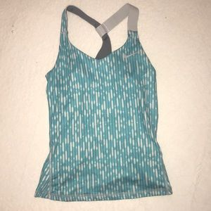 Blue and White Nike Athletic Tank
